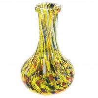 Колба Drop (Капля) желтая с разводами 4026-8b