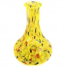 Колба Drop (Капля) желтая с разводами 4026-8a