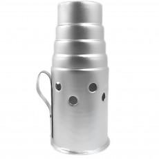 Колпак для кальяна лесенка серебро 4224-9