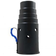 Колпак для кальяна лесенка черный (25,5 см) 4224