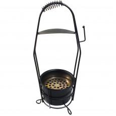 Корзина для угля Garden черная 4500